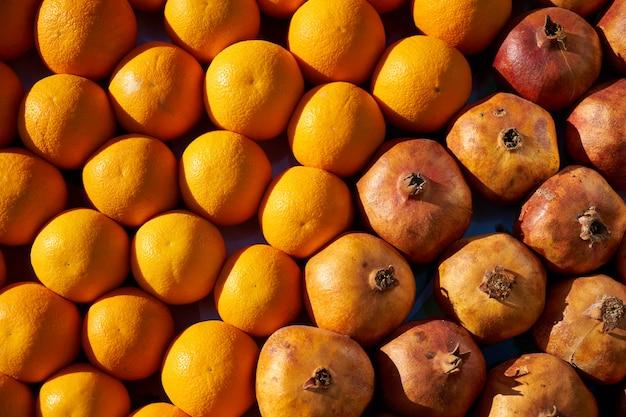 Orange und granatapfel