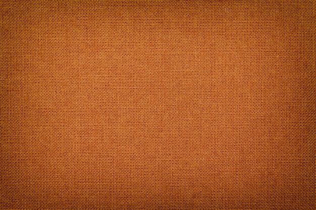 Orange von einem textilmaterial mit weidenmuster, nahaufnahme.