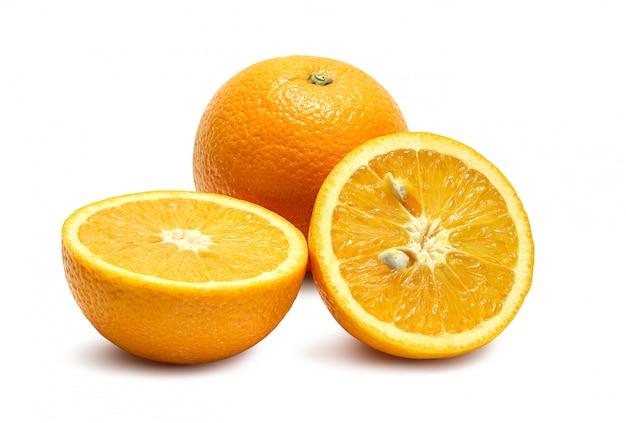 Orangen auf weiß