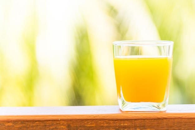 Orangensaft glas
