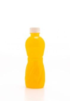Orangensaft mit nata de coco oder kokosgelee