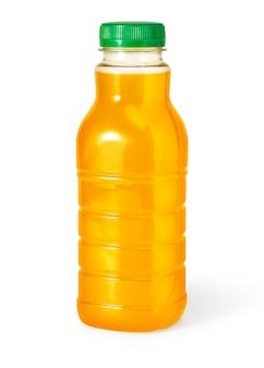 Orangensaftflasche isoliert auf weißem hintergrund mit beschneidungspfad