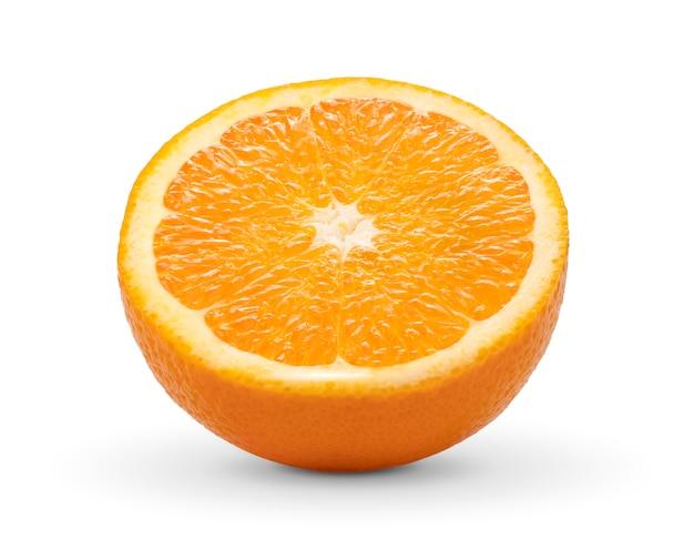 Orangenscheibe auf weiß