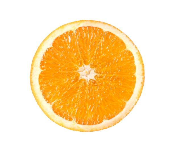 Orangenscheibe isoliert auf weiß