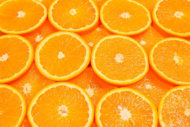Orangenscheiben als hintergrund, draufsicht