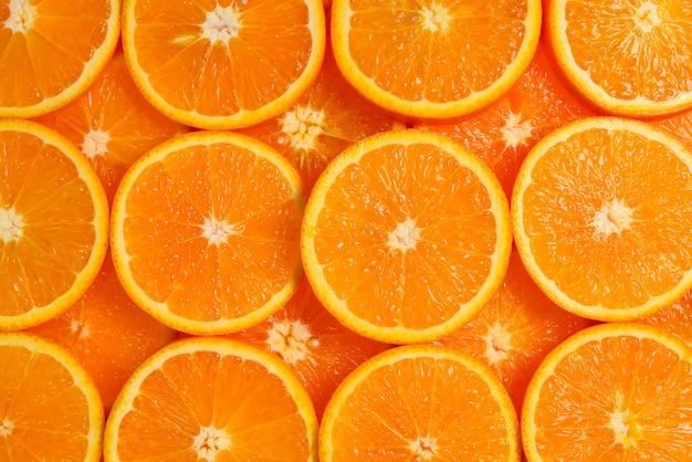 Orangenscheiben als hintergrund, draufsicht.