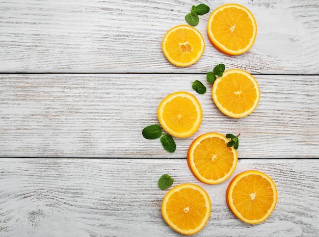 Orangenscheiben frisch