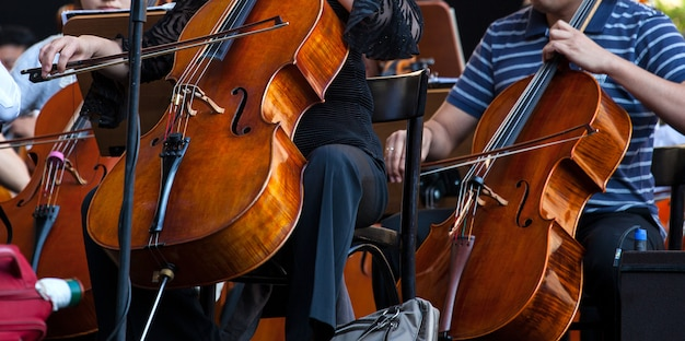 Orchester auf der straße
