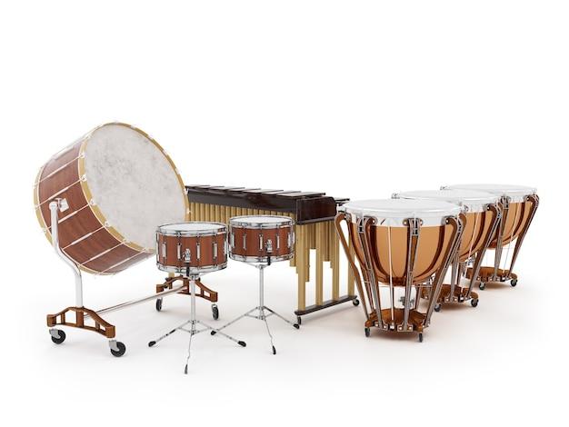 Orchestertrommeln isoliert auf weiß