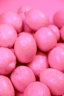 Organische rosa zitronen der nahaufnahme