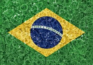 Organischen grunge flag brazil