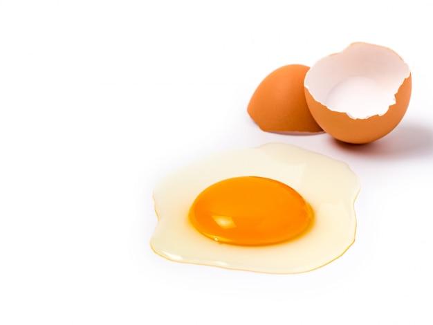 Organisches hühnerei-lebensmittelinhaltsstoffkonzept