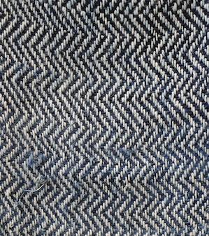Organisches zick-zack-gewebe aus hanfseiden-textilien