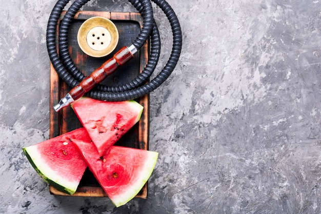 Orientalische shisha mit wassermelone