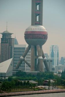 Orientalischer perlenturm, pudong, shanghai, china