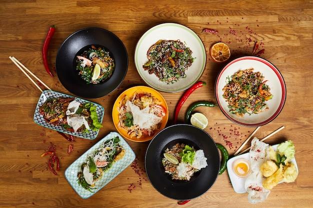 Orientalisches essen flatlay