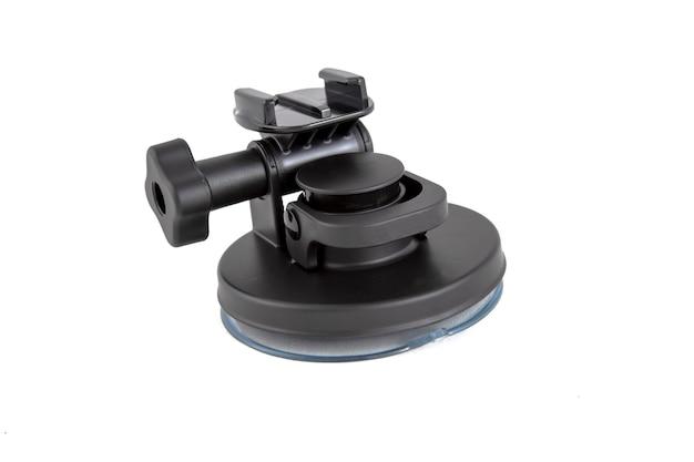 Original zubehör stativ mit saugnapf für action-kamera isoliert auf weißem hintergrund