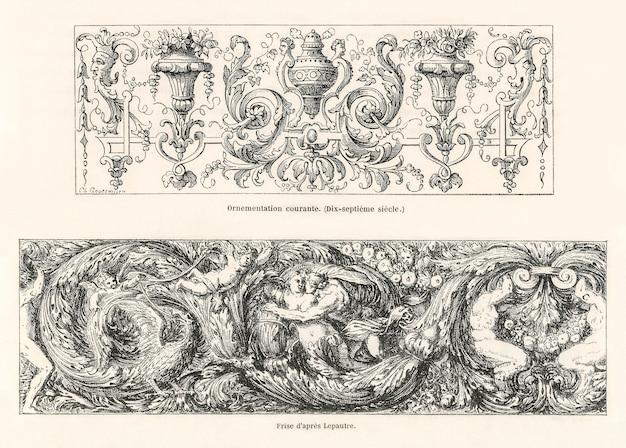 Ornamentmuster aus dem 17. jahrhundert