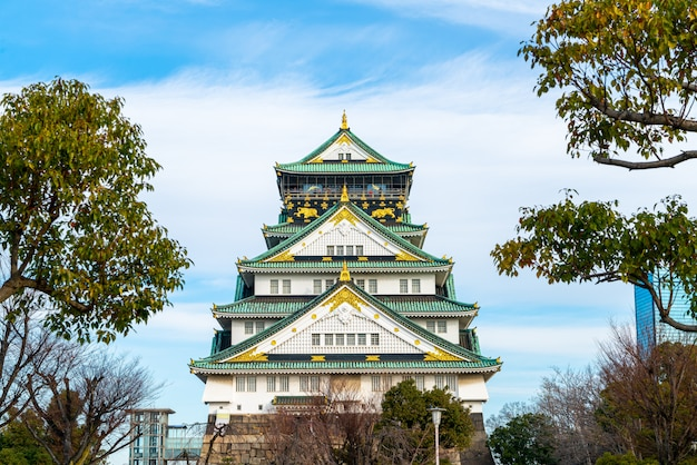Osaka schloss in osaka, japan