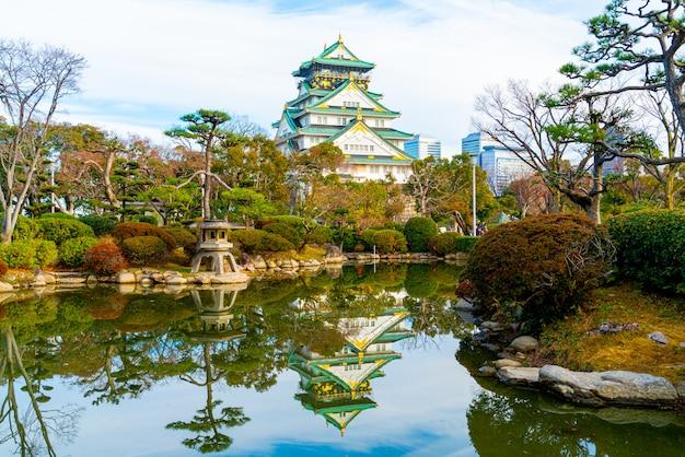 Osaka schloss in osaka, japan