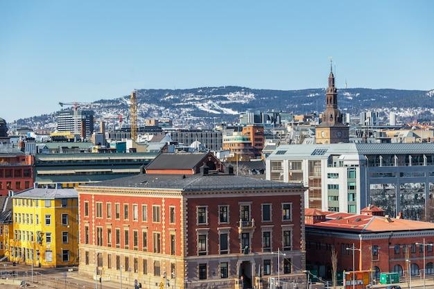 Oslo-stadt-skyline am sonnigen tag norwegen des sommers
