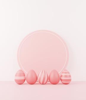 Ostereier auf rosa