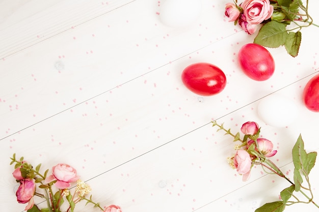 Ostereier blüht dekoration kopieren raumlichthintergrund