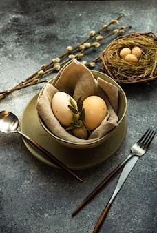 Osterferien tischdekoration