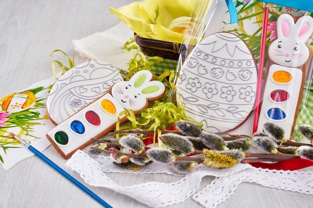 Ostergeschenk für dekoration handgemachten lebkuchen