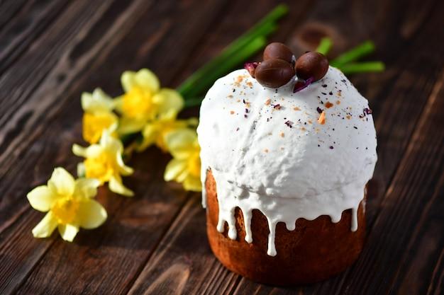 Osterkuchen. christlicher feiertag. das symbol von ostern.