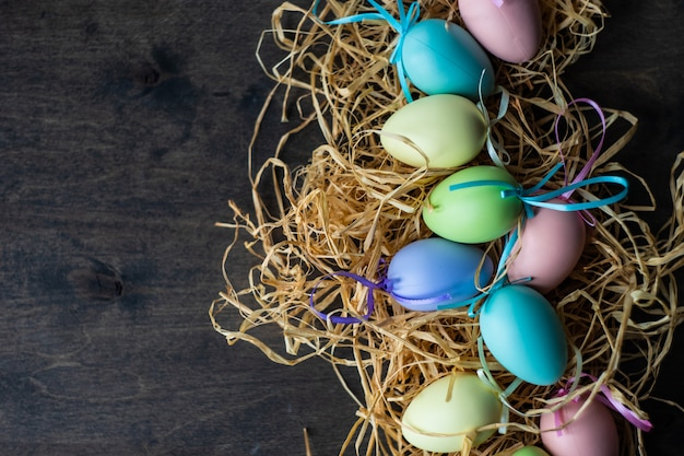 Ostern-feiertagskartenkonzept