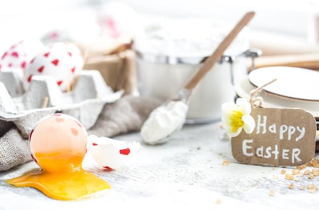 Ostern kochen stillleben