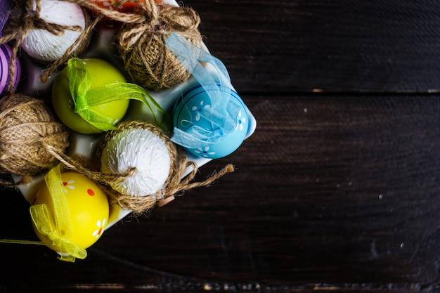 Ostern-konzept mit eiern