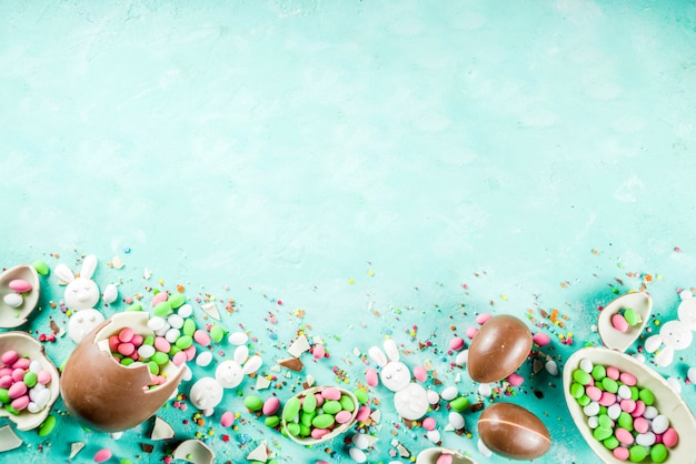 Ostern süßigkeiten hintergrund