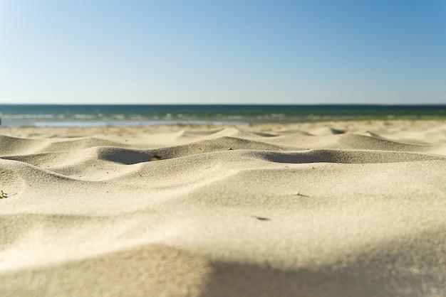 Ostseestrand. meer am sandstrand.