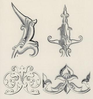 Owen jones berühmte grammatik der ornamente aus dem 19. jahrhundert.