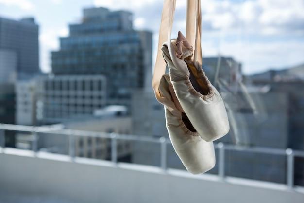 Paar ballettschuhe