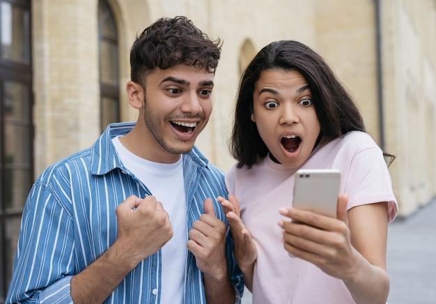 Paar gewinnt online-lotterie