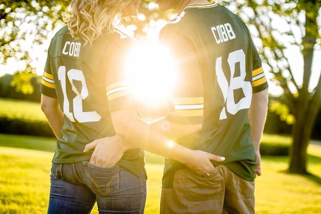 Paar in greenbay packers randall cobb trikot