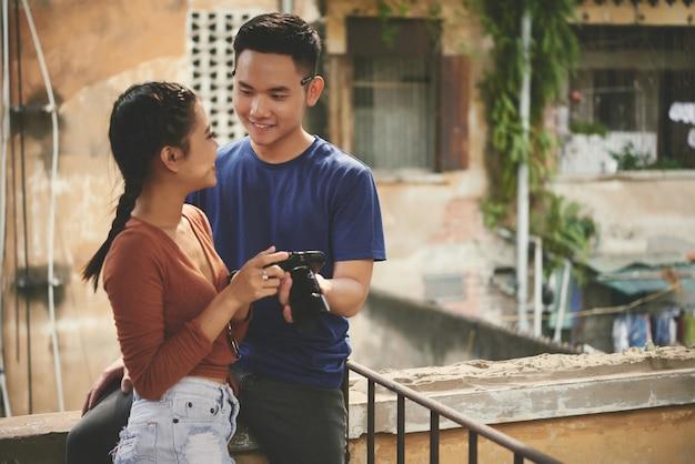 Paar mit der kamera