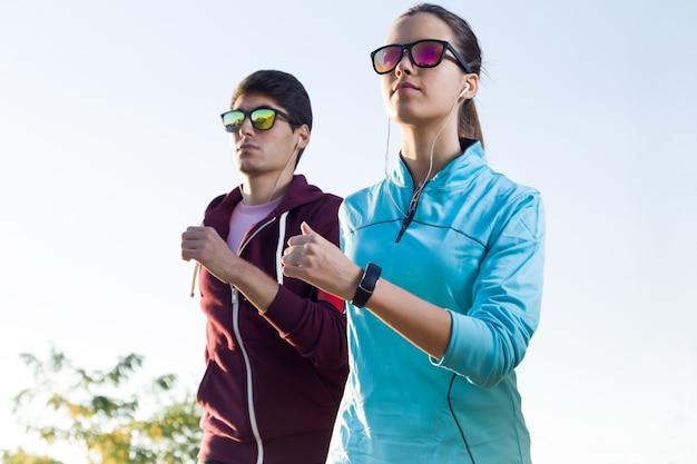 Paar von joggen