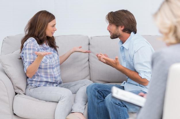 Paare, die therapie durchlaufen