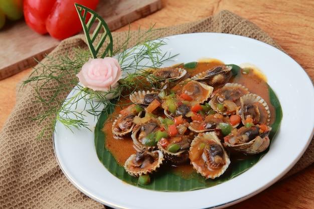 Padang soße scollop
