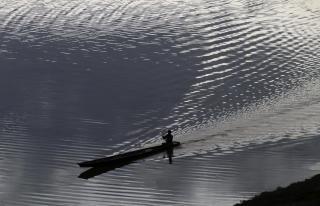 Paddeln auf dem mekong