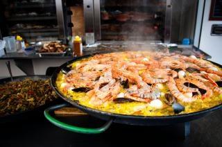 Paella meeresfrüchte