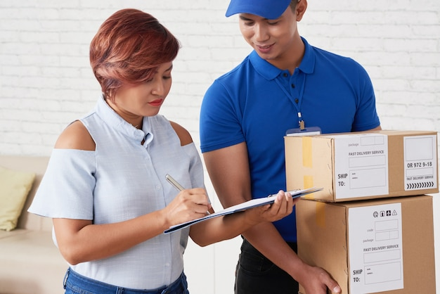 Pakete erhalten