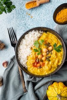Pakistan food arrangement über ansicht
