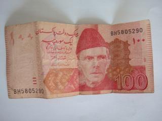 Pakistanische rupie hundert