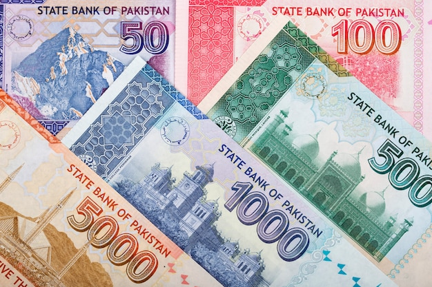 Pakistanisches geld - rupie ein geschäft