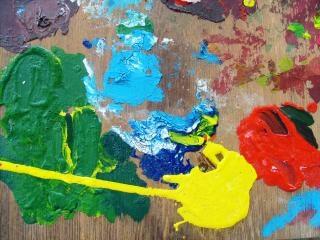 Paletten, textur, gelb
